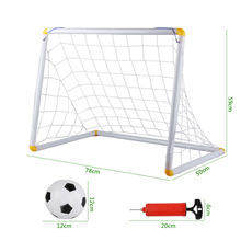 Football goal set outdoor sport game  toy plastic football door  soccer ball pvc baby's bump ball brinquedos meninos