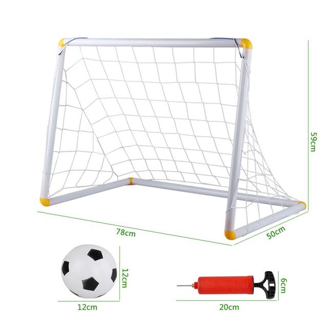 Portería de fútbol conjunto deporte al aire libre juego de juguetes de plástico puerta de fútbol balón de fútbol del pvc bebé bump bola brinquedos meninos