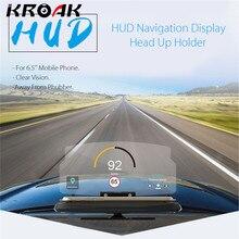 Universal Mobile Phone font b Car b font Holder Windscreen Projector HUD Head Up Display 6