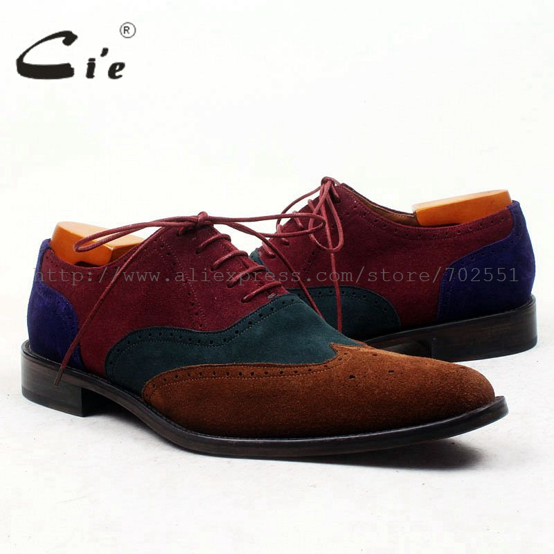 cie Pointed Full Brogues High Quality Bespoke Men Shoe Handmade Men's Shoe Oxford Casual Calf Leather Outsole Breathable OX443