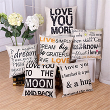 Square Fashion Decorative throw pillow cover case sofa cotton linen cushion cover for office chair sofa home decoration cojines