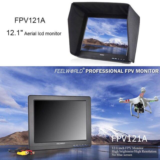 """Бесплатная доставка! Feelworld FPV121A HD 12 """"800x600 P Наземная Станция HD FPV Видео Монитор HDMI, VGA"""