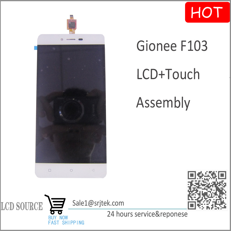 ФОТО White Replacement Parts for Gionee F103 LCD Display With Touch Screen Assembly + Free Tracking NO.