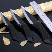 3pcs / sets Leggings Stainless Steel Diving Straight knife Outdoor Survival Camping Fixed Blade Knife 58HRC Tactical Knife 1