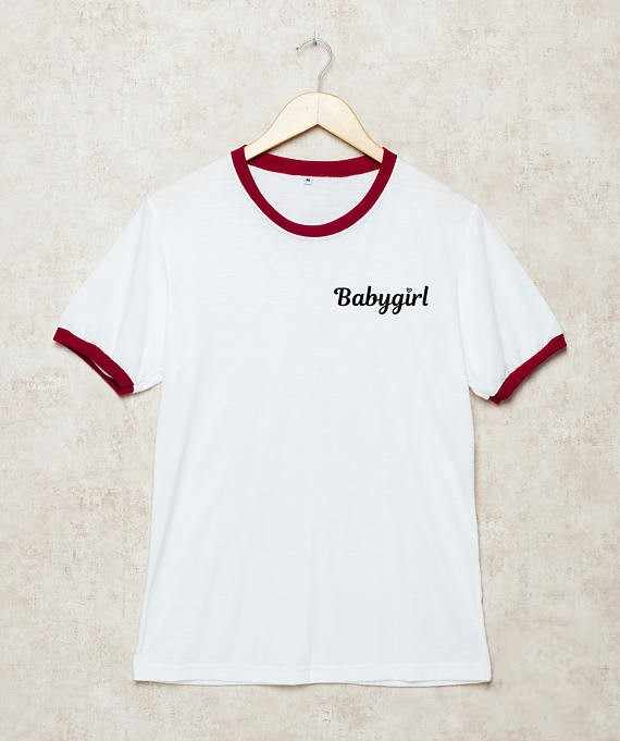 Babygirl Tumblr Ringer T Shirt Tumblr T Shirt Funny cute fashion girls top  t shirt baby 83aee53233a6