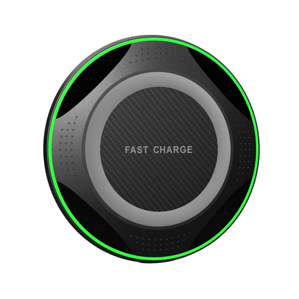 Fino 8 10W Qi Carregador Sem Fio para iPhone/X Rápido Carregamento Sem Fio para Samsung S10 S8 +/ borda S7 Nexus5 Lumia 820 Carregador USB Pad