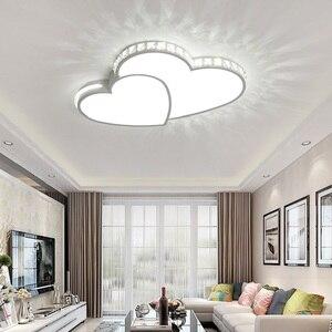 Image 5 - Kristal Modern Led tavan ışıkları oturma odası yatak odası için lamparas de techo colgante moderna avize kristal tavan lambası fikstür