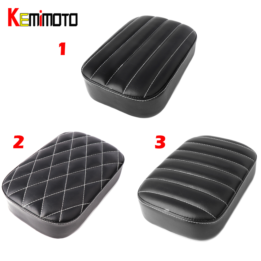 KEMiMOTO Motorcycle Rear Passenger Cushion 8 Suction Cups Pillion Pad Seat For Harley Dyna Sportster Softail Touring XL 883
