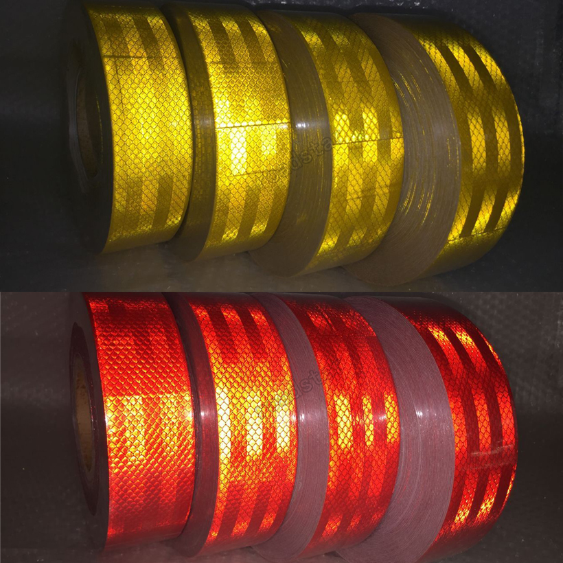 20Roll Wholesale Express Reflective Tape Adhesive Stickers Decal Decoration Film Safety Baby Motorcycle Stickers on Car-Styling 50mm x 3m reflective tape adhesive stickers decal decoration vw warning tapes vinyl film safety auto reflector sticker on car