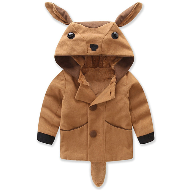 3846e34e9cea Mudkingdom Toddler Boys Girls Animal Shaped Hooded Coats Kids Winter ...