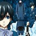 2 Kuroshitsuji negro Mayordomo Ciel Phantomhive Blue Boy Lolita Anime Traje Unisex Cosplay Costume Sets