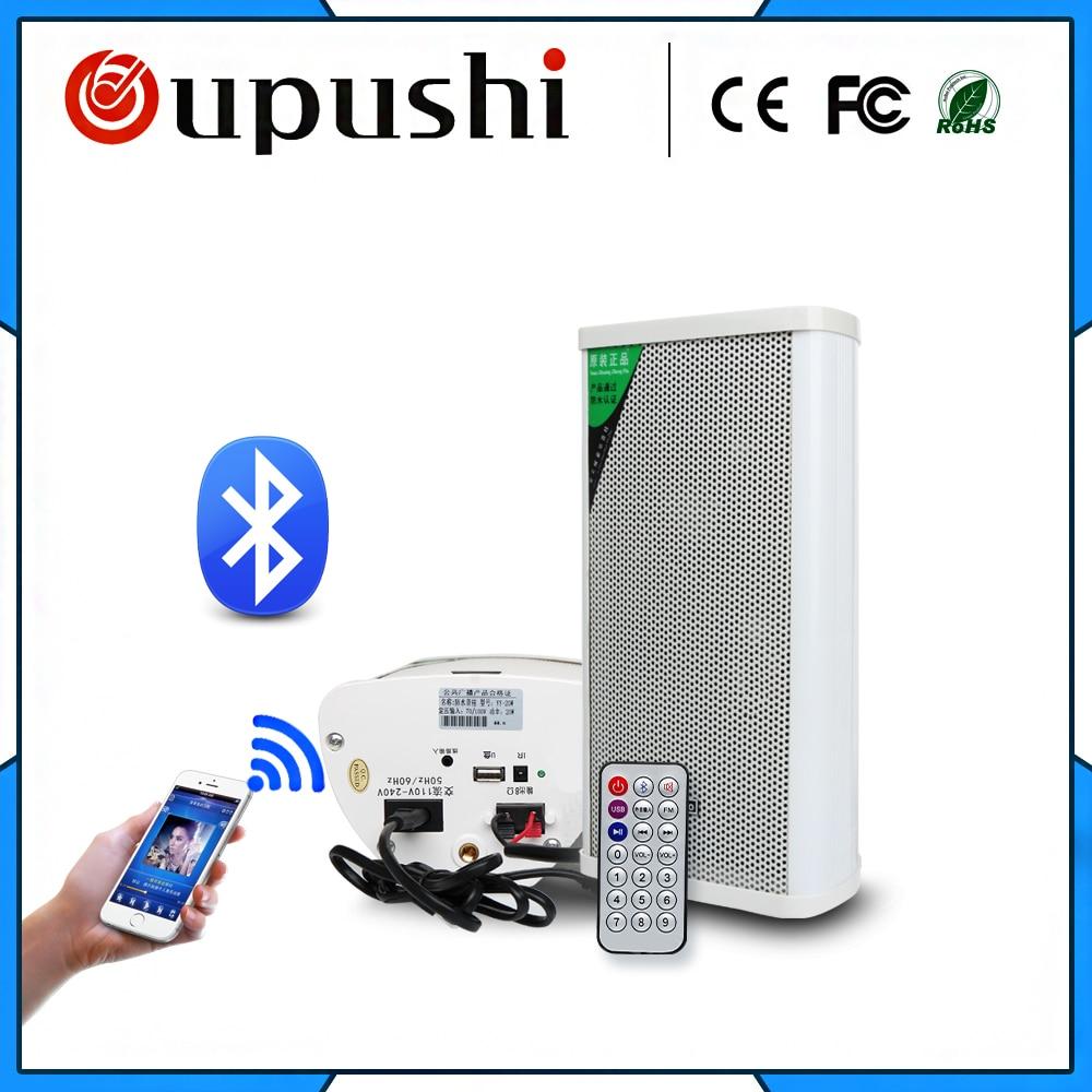 Oupush i YY-20W Mini enceinte colonne extérieure Bluetooth Active amplificateur intégré vendu par paire (1 Bluetooth + 1 Normal)