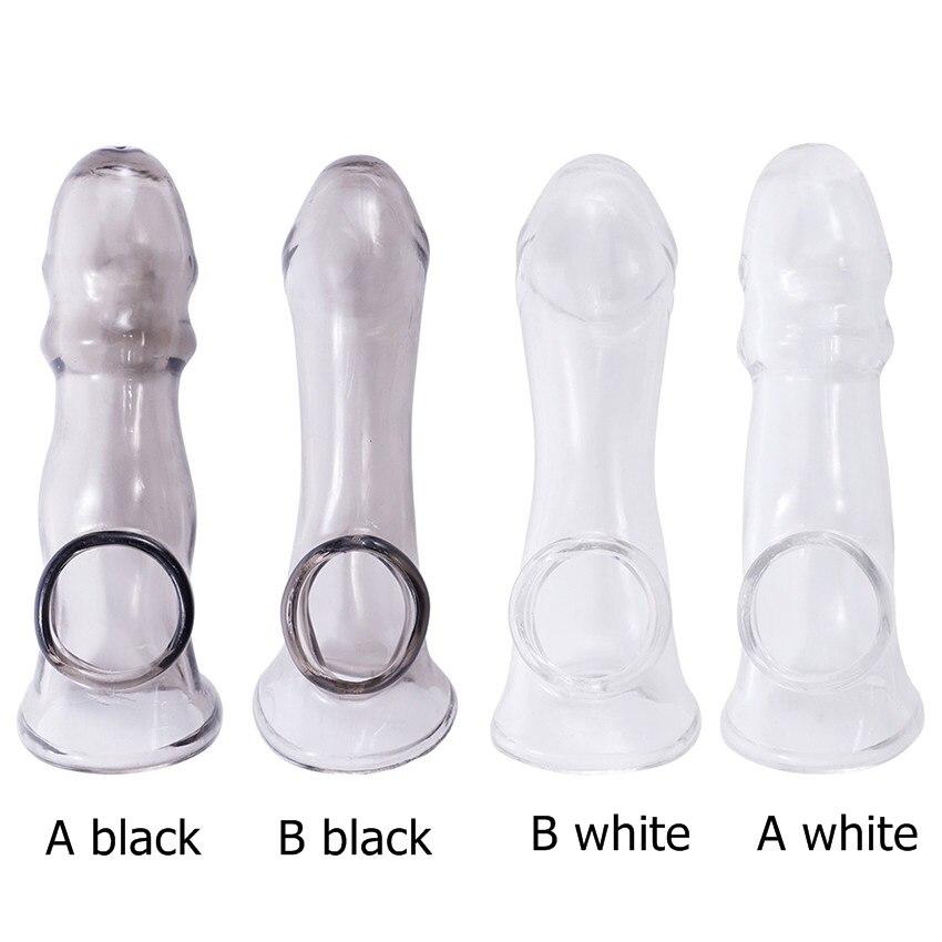 Многоразовые TPE насадка для головки пениса большой усилитель, Пенис с рукавом удлинитель пениса презерватив Эротические товары секс-игрушки для мужчин геев