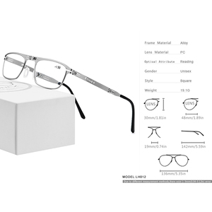 Image 4 - FONEX High Quality Folding Reading Glasses Men Women Foldable Presbyopia Reader Hyperopia Diopter Eyeglasses Screwless LH012