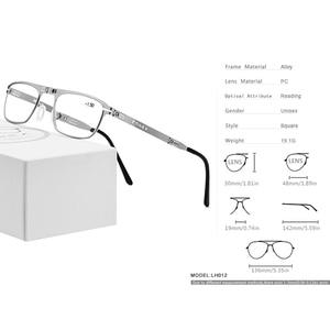 Image 4 - FONEX באיכות גבוהה מתקפל קריאת משקפיים גברים נשים מתקפל פרסביופיה קורא רוחק Diopter משקפיים ללא בורג LH012
