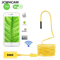 JCWHCAM WIFI Endoscope Mini Camera 1200p HD Snake Borescope Camera 2MP Android IOS Wirless Endoscopy Rigid