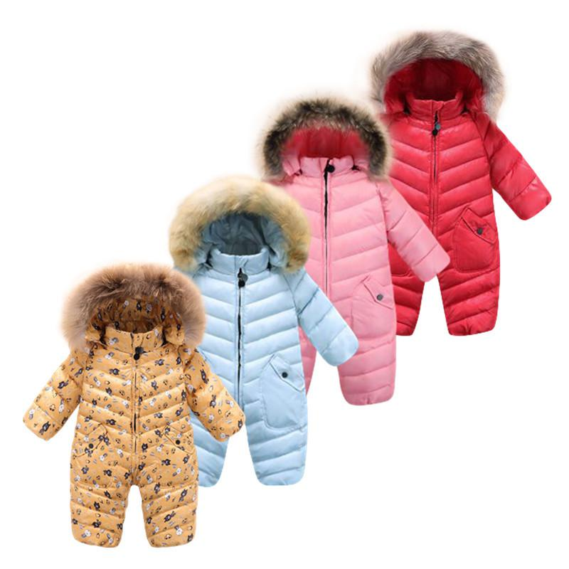 Fashion 7 colours winter baby jumpsuits ! 9M -30M duck down outerwear baby clothing  thermal overalls down jacket snowsuits , топор туристический duck commander® quax 9 9 см