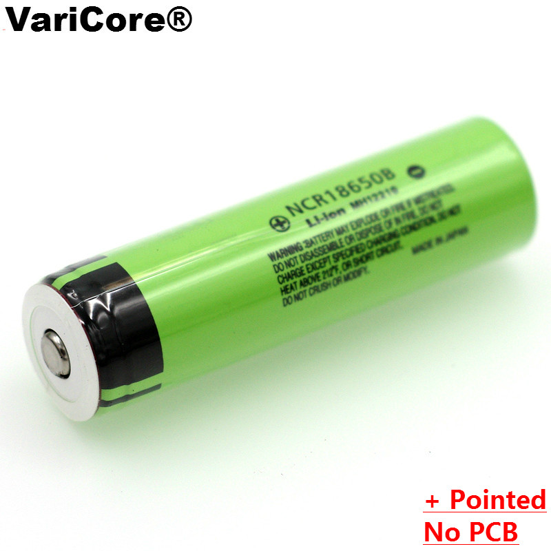 4PCS <font><b>100</b></font>% New Original NCR18650B <font><b>3.7</b></font> <font><b>v</b></font> 3400 <font><b>mAh</b></font> 18650 Lithium Rechargeable Battery with Pointed For Flashlight batteries image