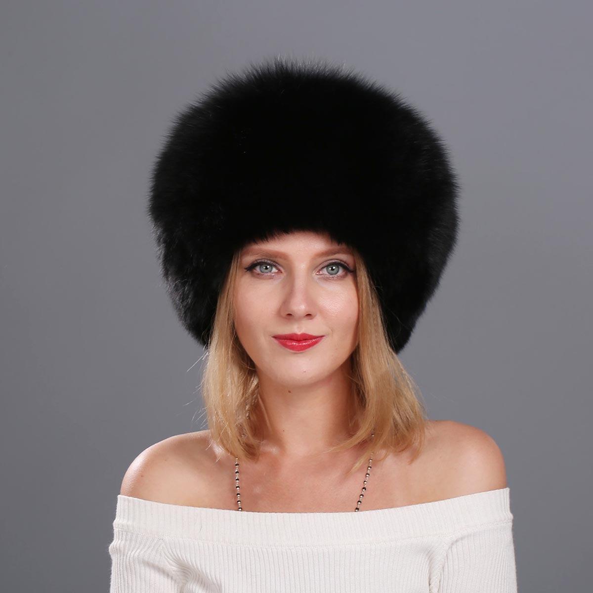 2016 Women 's Genuine Fox Fur Cap Beanies Russian Winter Fur Hat 100% Real Fox Fur Hat Black White Silver Fox каталог fox s