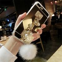 For Samsung S3 S4 S5 S6 S7 Edge Plus Note 3 4 5 Luxury Rhinestone Pearl