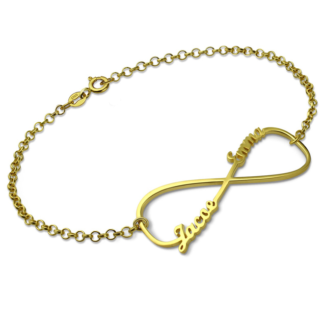 Infinity Name Bracelet Gold Color Personalized Bracelet With Any