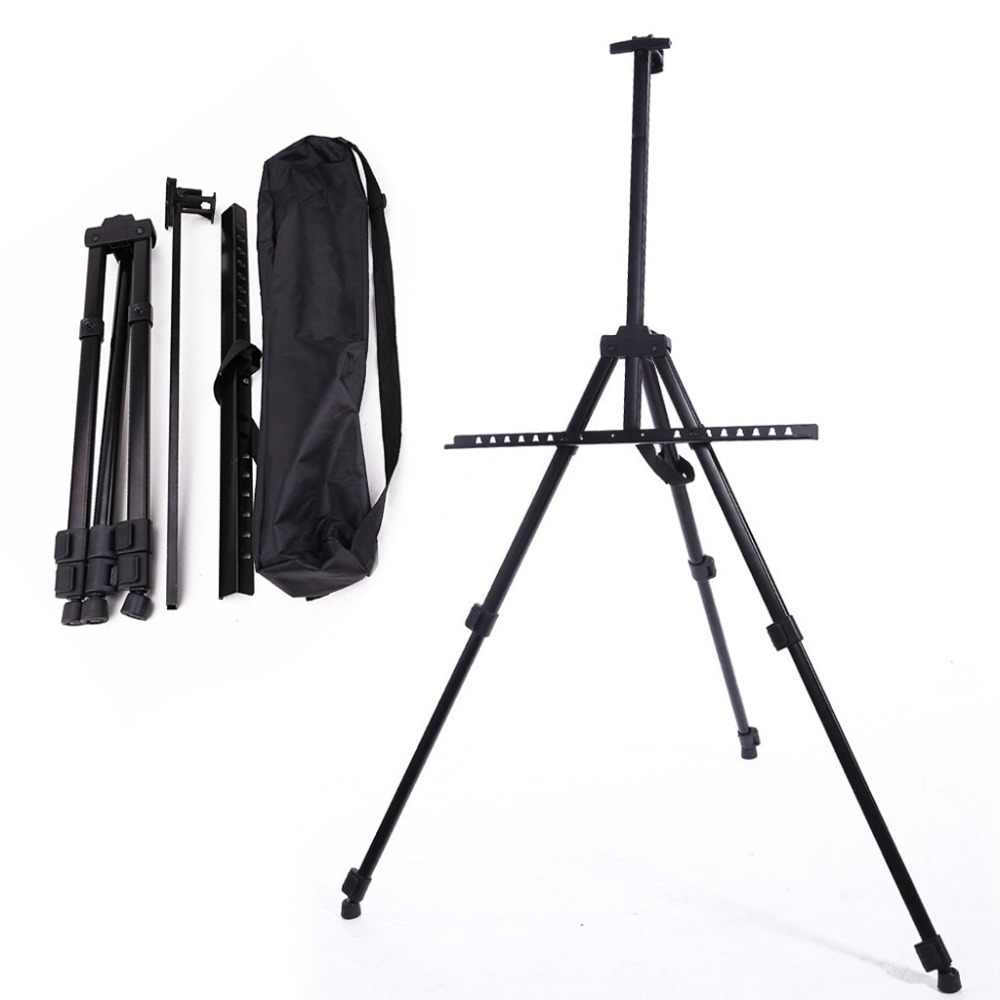 Table Drawing Folding Easel Metal Tripod Display adjustable Sketch Easel for painting Outdoor Sketchpad Stents Scaling