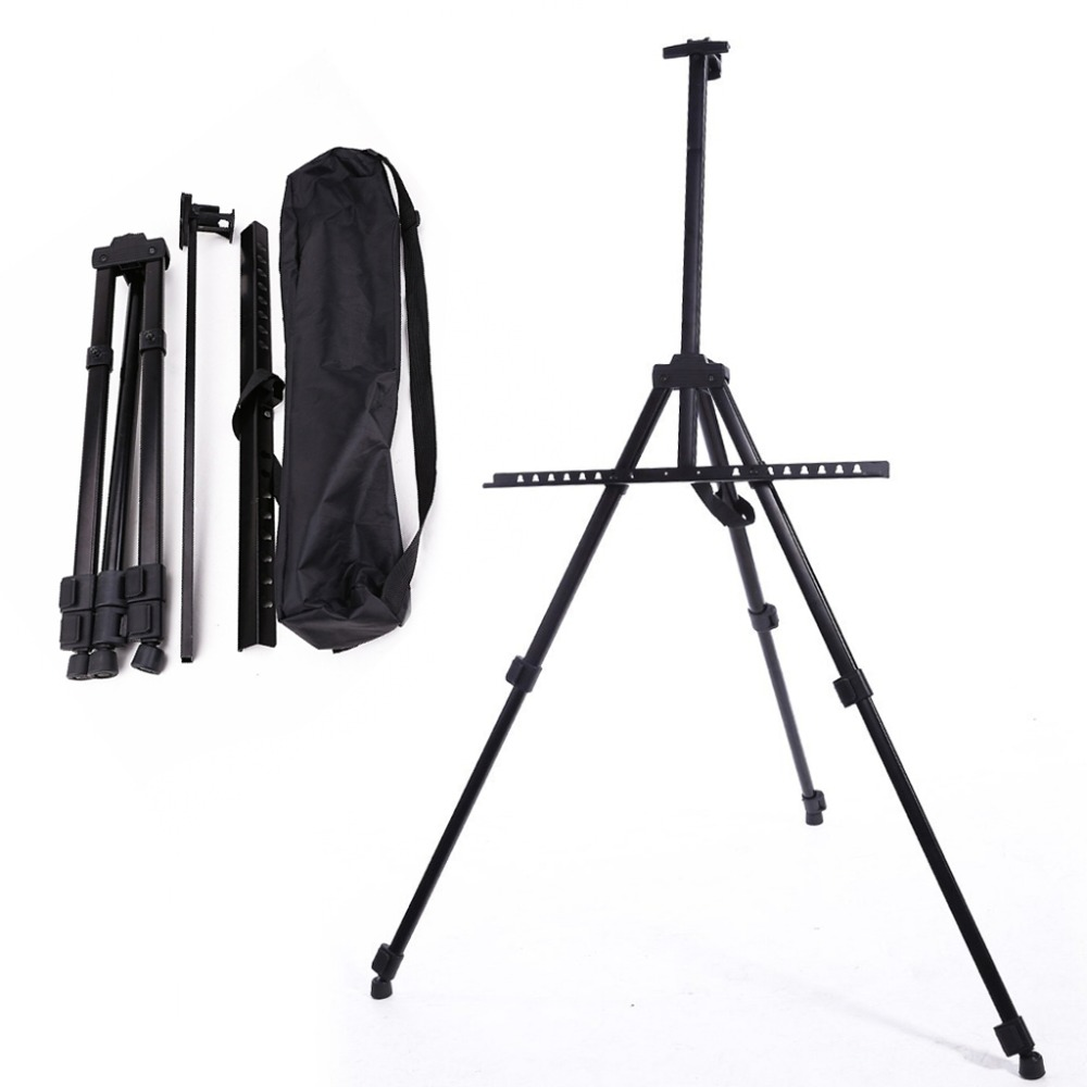 Table Drawing Folding Easel Metal Tripod Display adjustable Sketch Easel for painting Outdoor Sketchpad Stents Scaling multi purpose wood painting easel sketch easel drawing tool