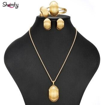 f001dded1ccc4 Shamty الإريترية الذهب الخالص اللون مجموعات زفاف العروس مجموعات مجوهرات  الاثيوبية نيجيريا إريتريا كينيا Habasha نمط