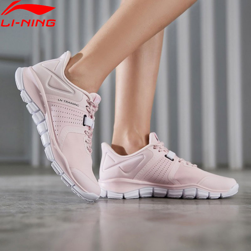 Li-Ning Women 24H Flexible Training Shoes Split Upper Breathable LiNing Li Ning Light Sport Shoes Sneakers AFHP002 YXX051