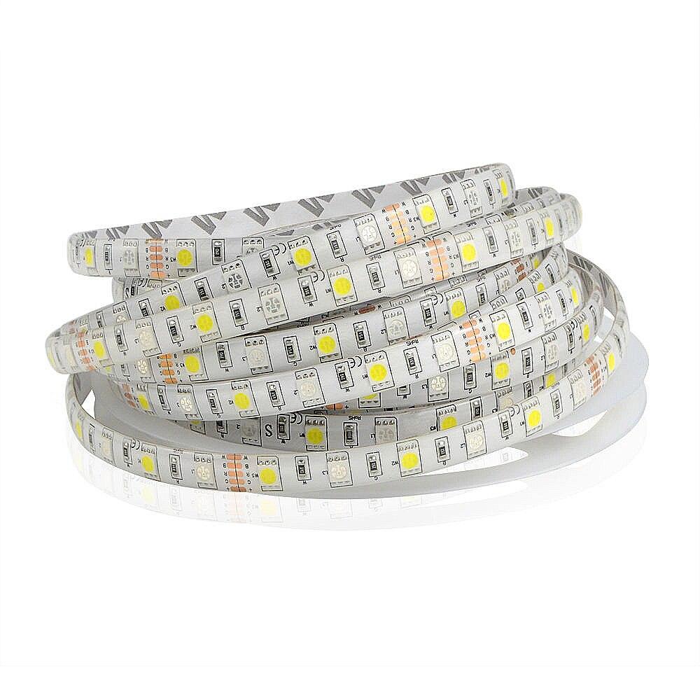 5m RGBW RGBW 5050 Led Stripsats DC 12V 4 i 1 Led Chip Vattentät Icke - LED-belysning - Foto 2