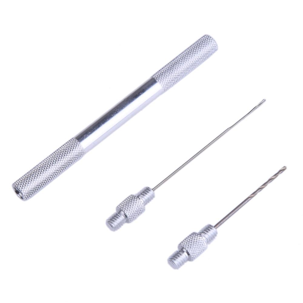 1 komplekti 3 in 1 kombineeritud komplekt alumiiniumist boilie nõelahela tööriista mitu funktsiooni boilie laadimisseadme karpkalapüük söötmiseks