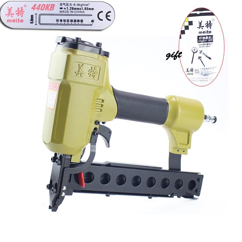 Quality meite 440KB U-type Pneumatic Nail Gun Air Stapler Gun Nailer Tools 25-40mm for Making Furniture / SofaQuality meite 440KB U-type Pneumatic Nail Gun Air Stapler Gun Nailer Tools 25-40mm for Making Furniture / Sofa