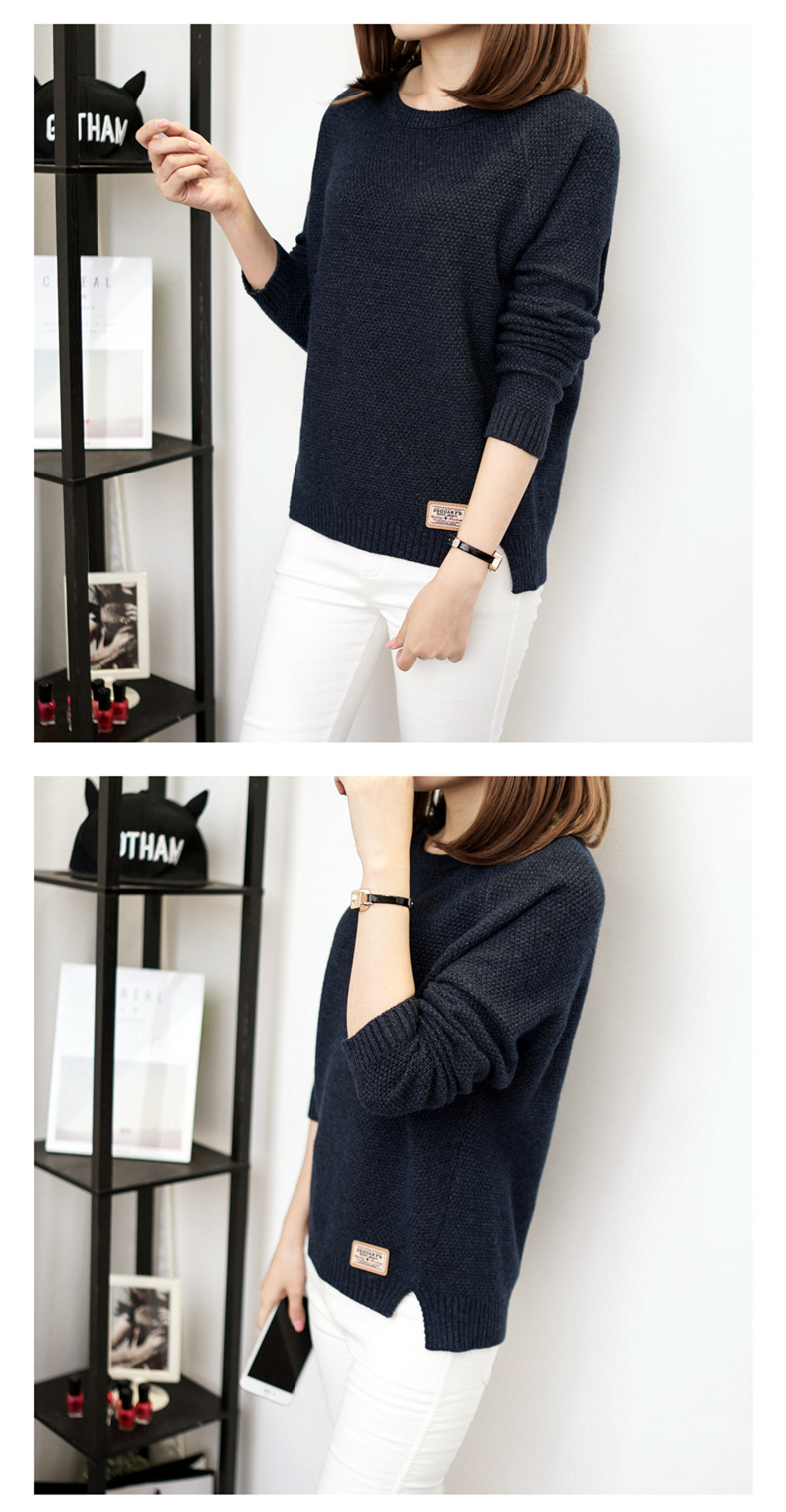 Autumn sweater 19 Winter women fashion sexy o-neck Casual women sweaters and pullover warm Long sleeve Knitted Sweater 13
