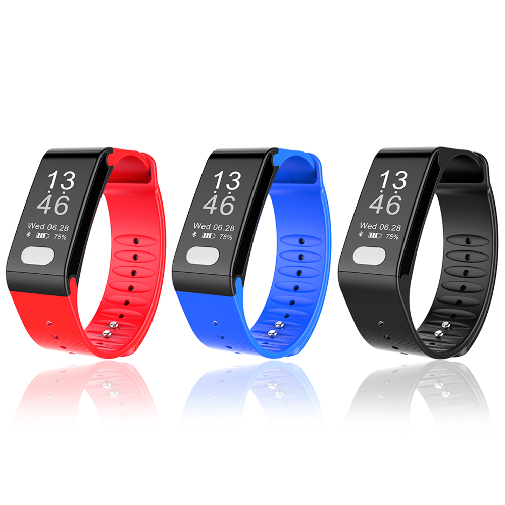 T6 Smart Fitness Bracelet Wristband Heart Rate Smart Band Watch ECG PPG Puls Blood Pressure Monitor For Android IOS Phone dawo ecg smart bracelet blood pressure smart wristband heart rate temperature pedometer bluetooth fitness band for ios android