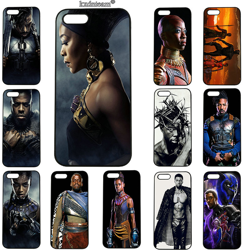 Avengers Marvel Comicss Black Panther Phone Cases for iphone 8 7 6 6S Plus X 5S 5C 5 SE 4 4S iPod Touch 5 6 Shell Hard PC Cover
