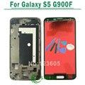 Negro/blanco para samsung para galaxy s5 g900f pantalla lcd con pantalla táctil digitalizador asamblea con marco + herramientas de envío gratis