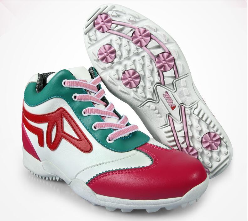 цена Hot !PGM Adult Ladies Women Genuine Leather High Heel Golf Sports Shoes high quality.Free shipping