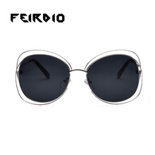 Orange feirdio femeninos hombres gafas de sol de alta calidad gafas retro gafas de sol de gran tamaño hueco espejos deportivos multifunción