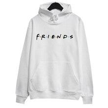 a0365c79cd62bc Kobiety przyjaciele TV pokaż bluza z kapturem na co dzień luźna krótka bluza  z kapturem topy przyjaciółmi litery druku swetry z .