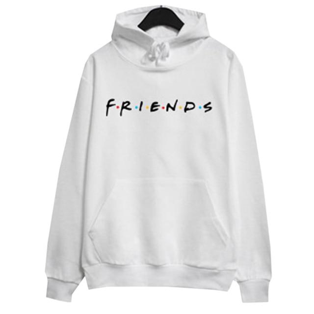 8e0c1bbb US $6.56 10% OFF Women Friends TV Show Hoodie Casual Loose Crop Hoodie Tops  Friends Letters Print Pullover Long Sleeve Shirts-in Hoodies & Sweatshirts  ...