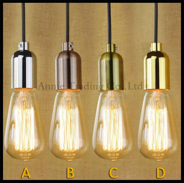Modern Edison Bulb Chandelier Lights Hanging Incandescent Lamp Holder Wire Base Socket Re Bronze