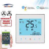 Hessway tuya 2 tubo 4 refrigeração & aquecimento wifi termostato google para ar condicionado central