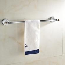 Один полотенцесушитель, держатель для полотенец, вешалка для полотенец твердая латунь и Кристалл Сделано, хромированная отделка, аксессуары для ванной комнаты