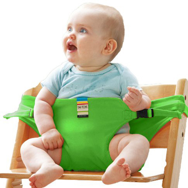 Baby Infant Dining Chair Safety Belt Portable Lunch Seat Stretch Wrap Feeding Chair Harness baby Booster Seat travel baby booster seat harness random straps portable fold washable baby dining chair seat bag cute baby feed chair bag