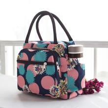 Female bag handbag with thick waterproof canvas lunch mummy hand carry small cloth Oxford mother