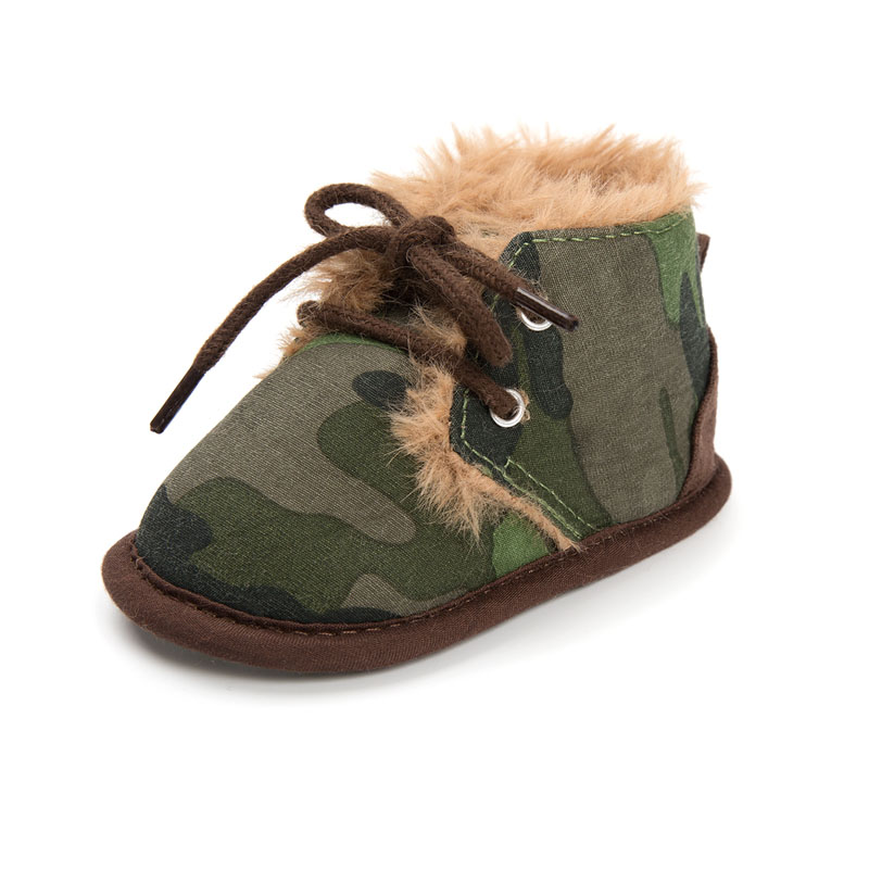 Baby Winter Boots Newborn Infant Toddler Kids First Walkers Warm Girls Boys Soft Sole Anti Slip Prewalker Baby Shoes Camouflage in First Walkers from Mother Kids
