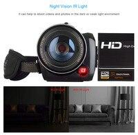 ORDRO 1080P Full HD видеокамера с широкий формат объектив ночное видение Wi Fi видео камера 18X цифровой зум дистанционное управление 25