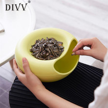 DIVV Convenient  practical household kitchen Creative Shape Bowl Perfect For Seeds Nuts Fruit snacks Small objects Storage Box44