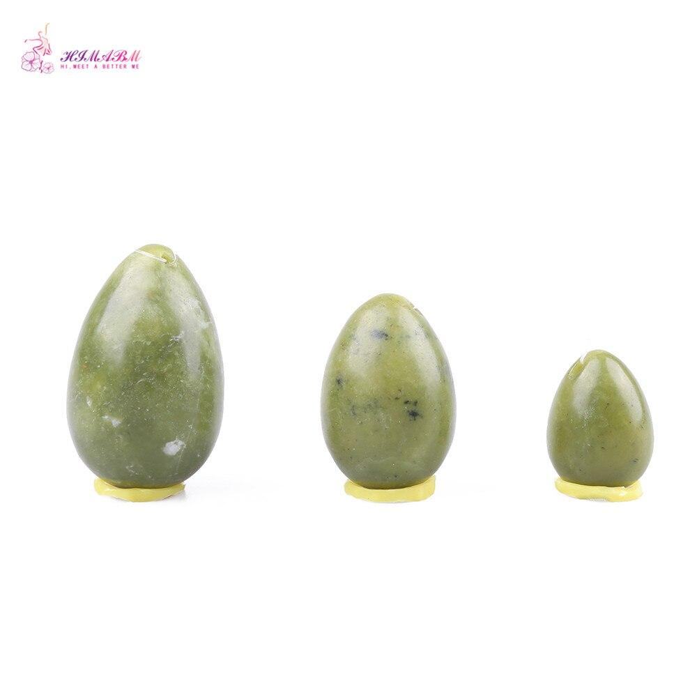 HIMABM 1 Ställ Naturligt Xiuyan Jade Ägg För Kegelboll Övning - Sjukvård - Foto 2