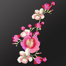 China National embroidery large cloth posted auspicious Flower clothes patch decals DIY velvet dress decoration accessories